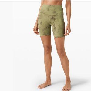NWT align shorts green vista diamond dye 2